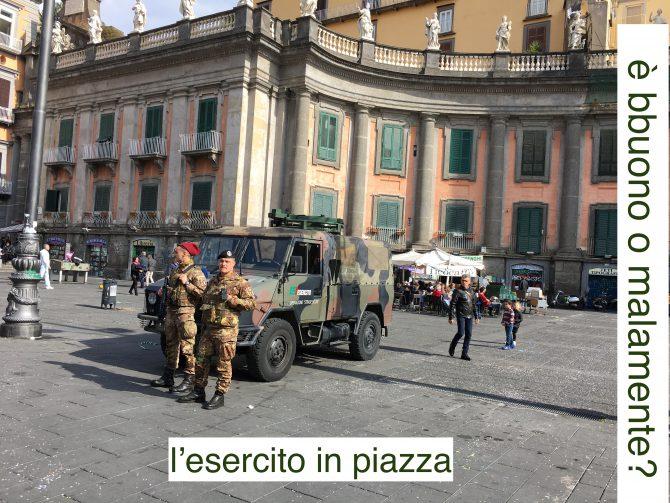 esercito in piazza